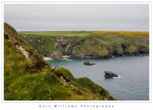 Photograph of Godrevy Headlands near Godrevy Lighthouse, Cornwall, England