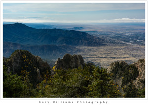 Photograph of the Albuquerque Basin from the Sandia Crest in New Mexico