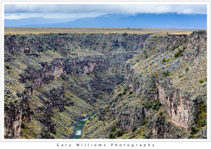 Photograph of the Rio Grande River Gorge near Taos, New Mexico