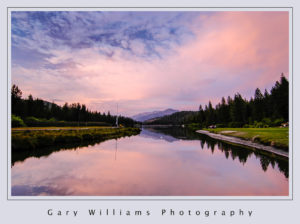 Photograph of sunrise at Hume Lake, California