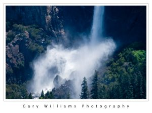 Photograph of Bridalveil Fall in Yosemite Valley, California