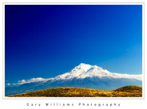 Photograph of Mt. Shasta in northern California