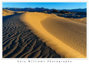 Photograph of sand dunes at Stovepipe Wells, Death Valley