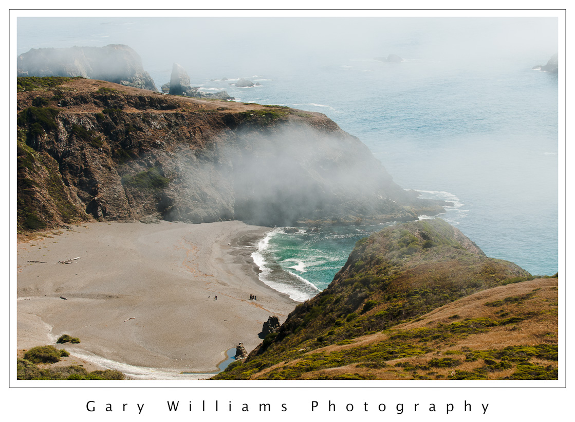 Road Trip Northern California Photograph Of Cliffs Fog And A Beach On The Coast Near Jenner